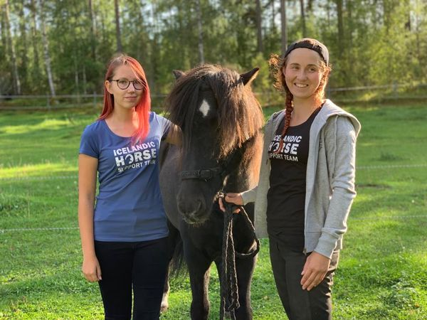 "T-paita ""Icelandic Horse Support Team"""